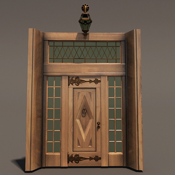 Ornament Wood Door Hi Detail - 3DOcean Item for Sale