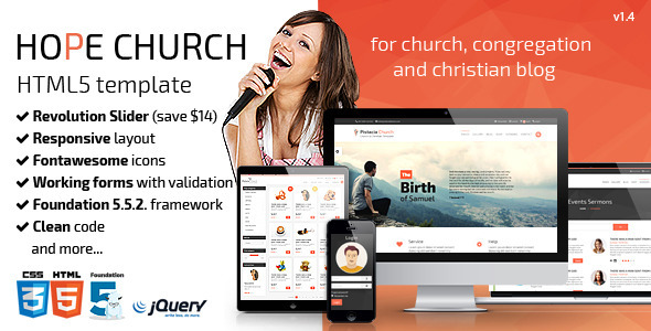 Hope – Church Responsive HTML5 Template