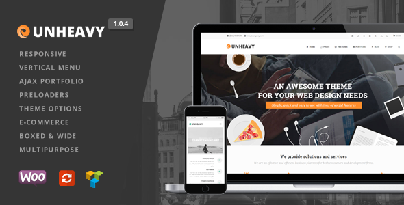 Unheavy - Multi-Purpose Responsive WordPress Theme