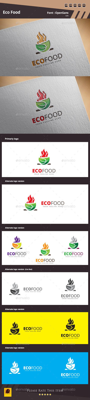 Eco Food Logo Template - Food Logo Templates