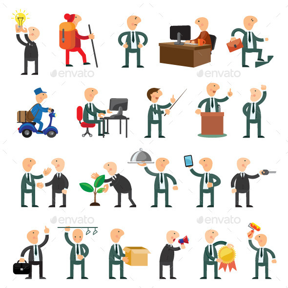 Business People Icons - People Characters