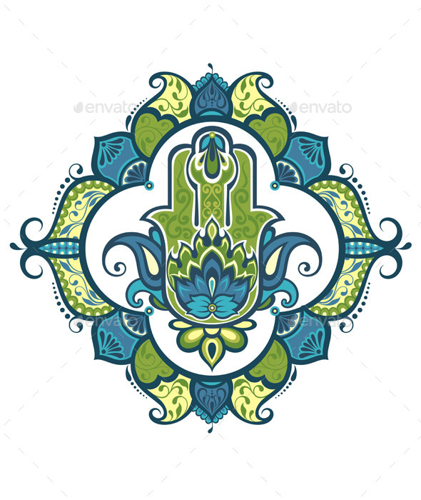 Decorative Hamsa - Backgrounds Decorative