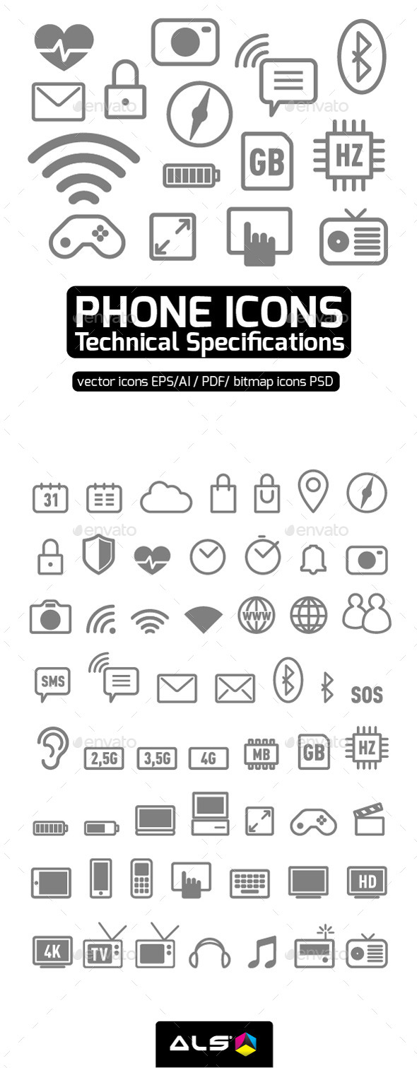 Phone Technical Specifications - Technology Icons