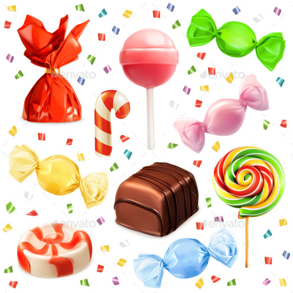 Candies Icons - Food Objects