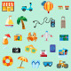Beach Holiday Icons - GraphicRiver Item for Sale