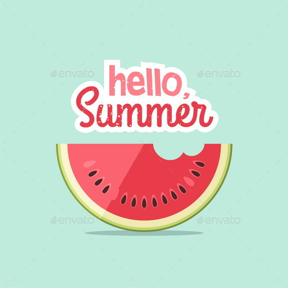 Watermelons and Lettering - Miscellaneous Seasons/Holidays