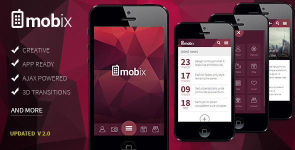 Mobix – HTML Mobile Template