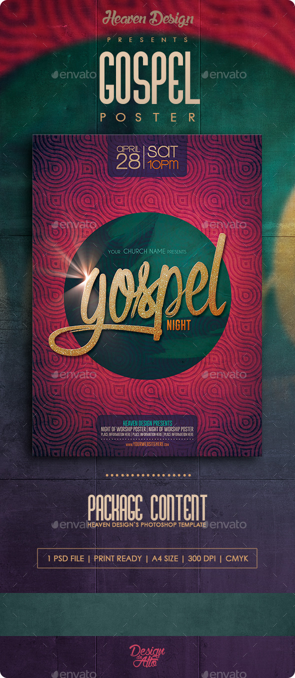Gospel Night | Poster - Events Flyers