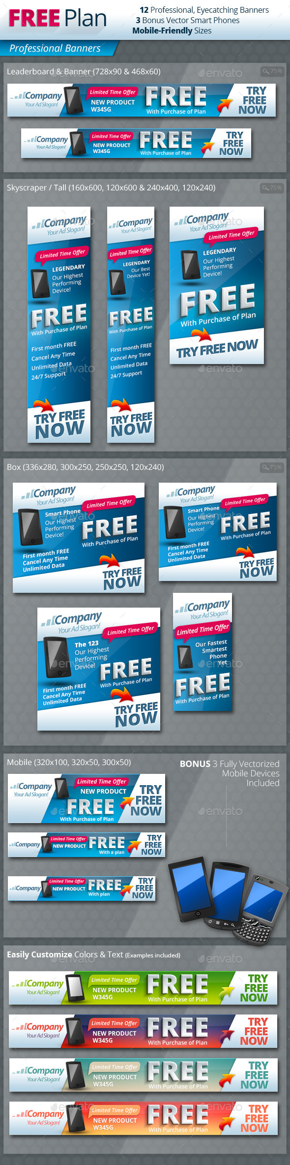 Free With Plan Professional Banners - Banners & Ads Web Elements