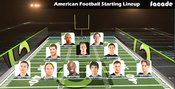 American Football Starting Lineup By Facade