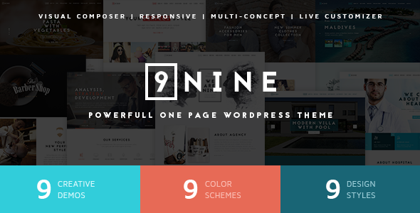 Nine - MultiPurpose One Page Theme