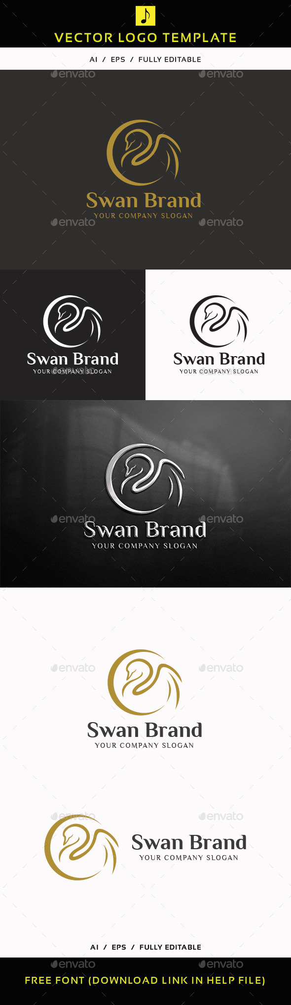 Swan Brand - Animals Logo Templates