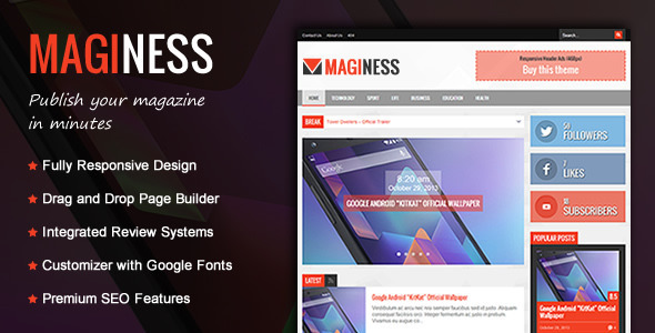 Maginess – Flexible Magazine WordPress Theme