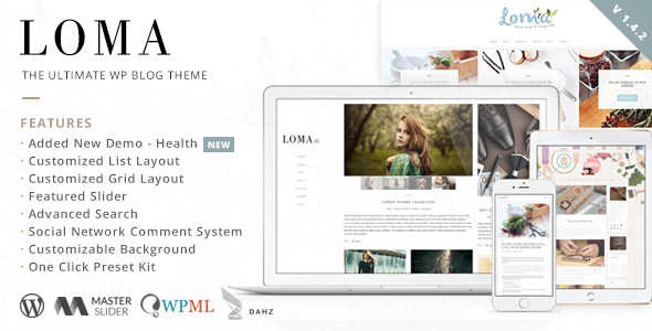Loma – The Ultimate WP Blog Theme