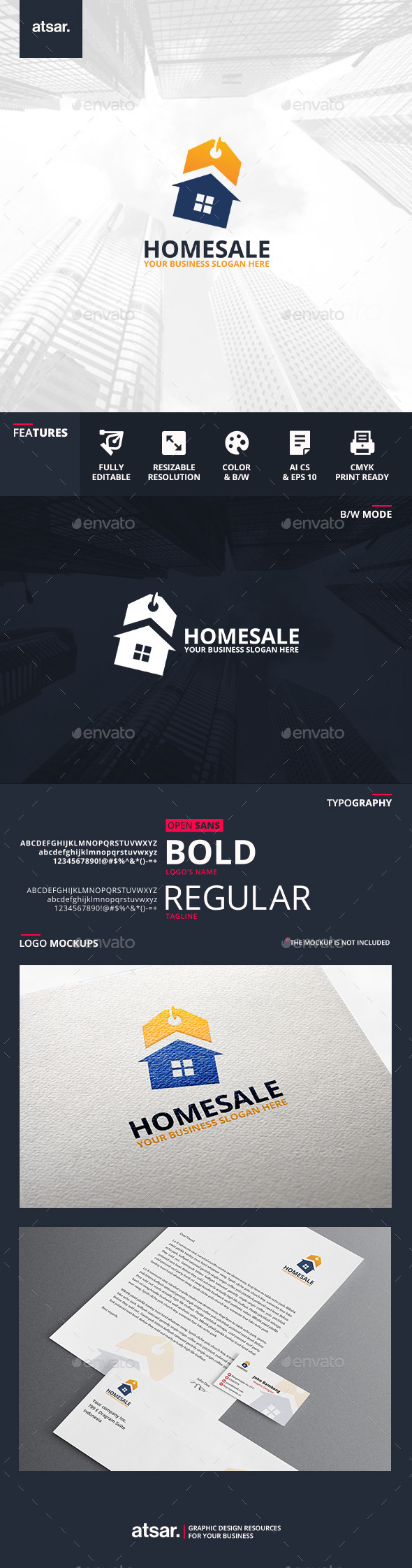 Home Sale Logo Template - Buildings Logo Templates