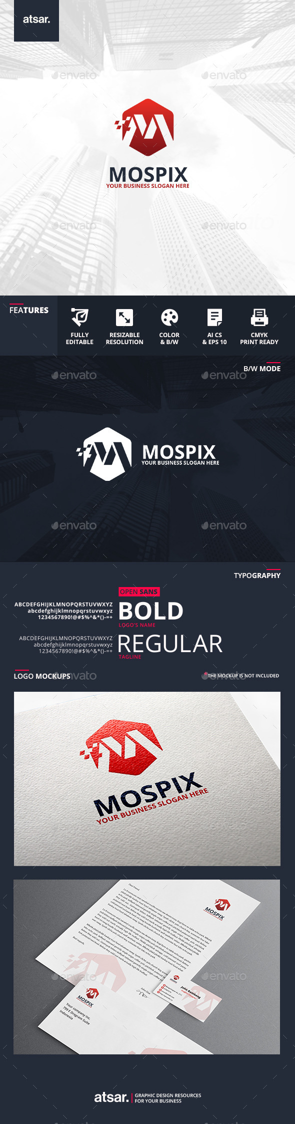 Mospix Logo Template - Letters Logo Templates