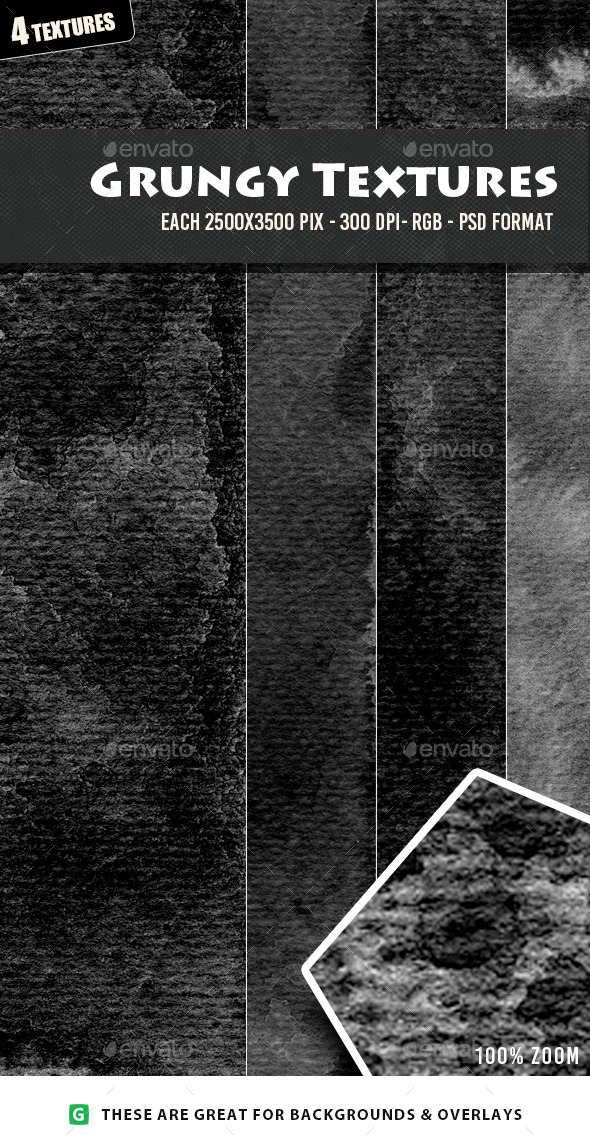 Grungy Monochrome Textures  - Industrial / Grunge Textures