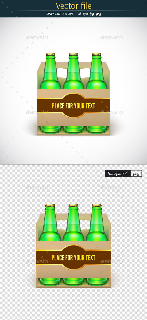 Packaging of Beer with Place for Your Text - Man-made Objects Objects