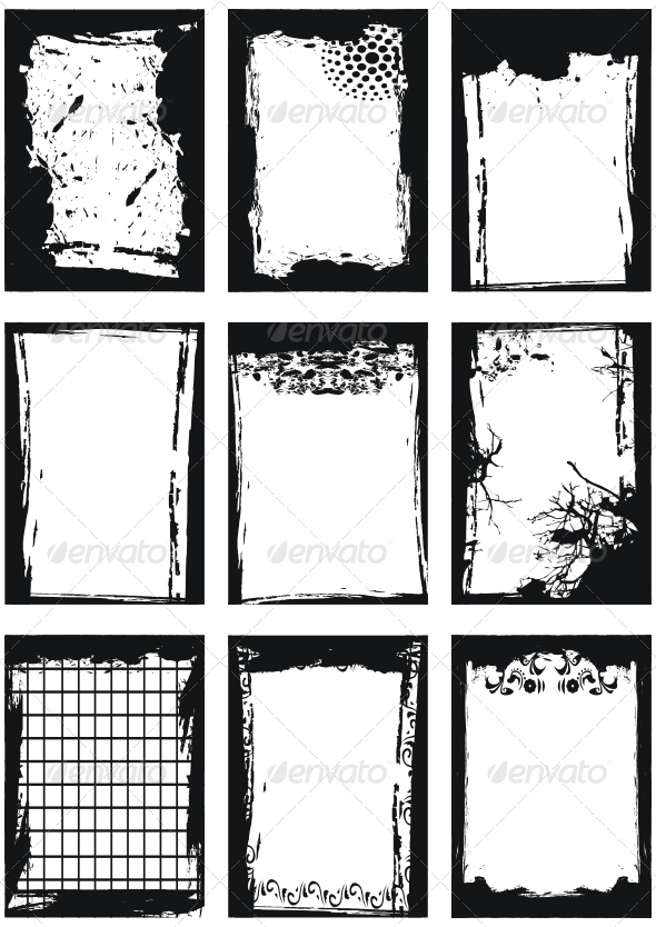 Set of Grunge frames - Borders Decorative