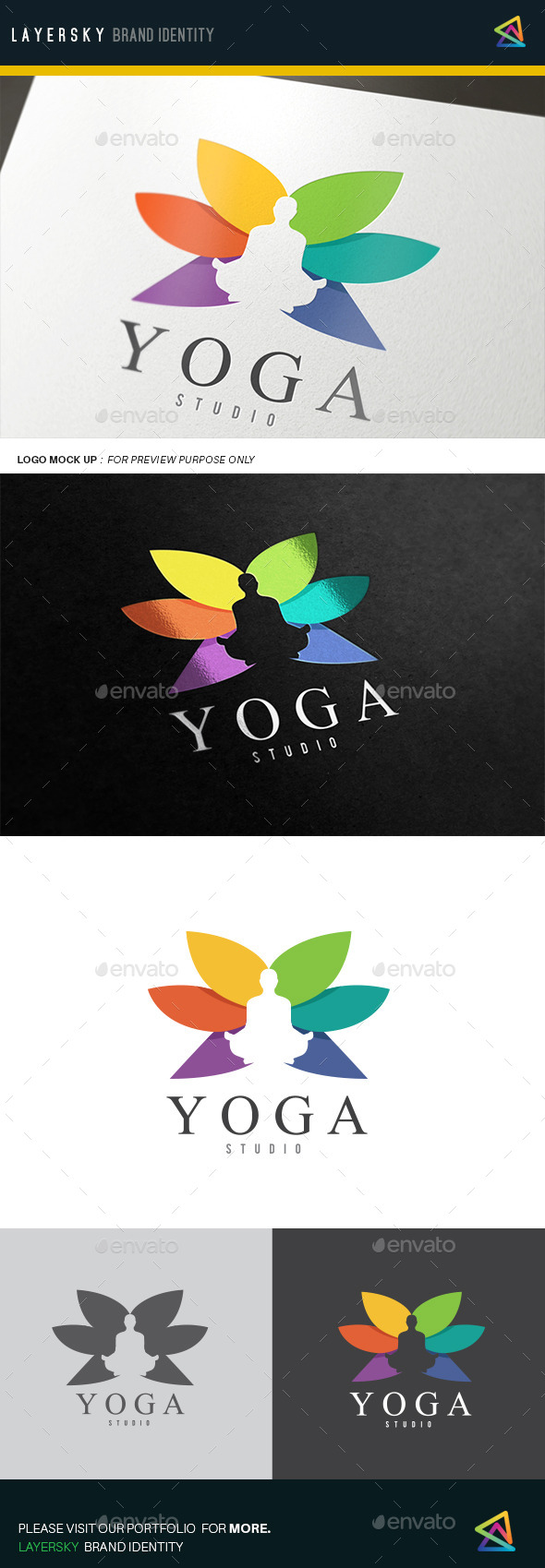 Yoga - Humans Logo Templates