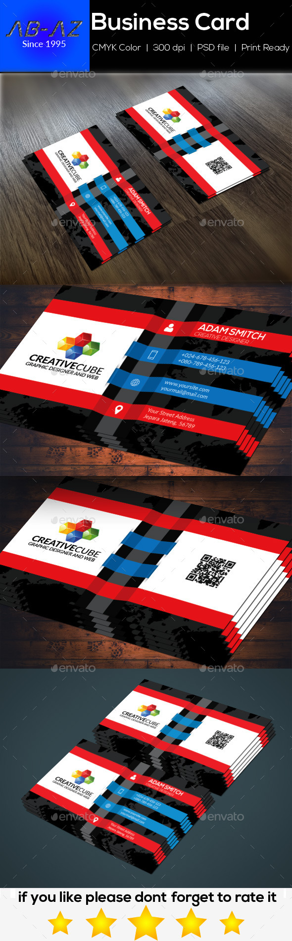 Modern Clean Business Card - Corporate Business Cards