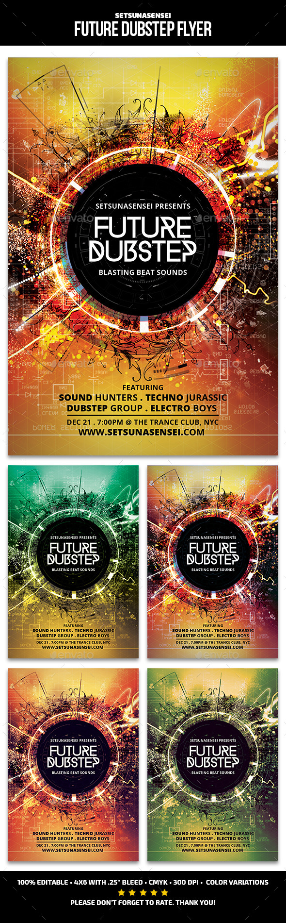 Future Dubstep Flyer - Clubs & Parties Events