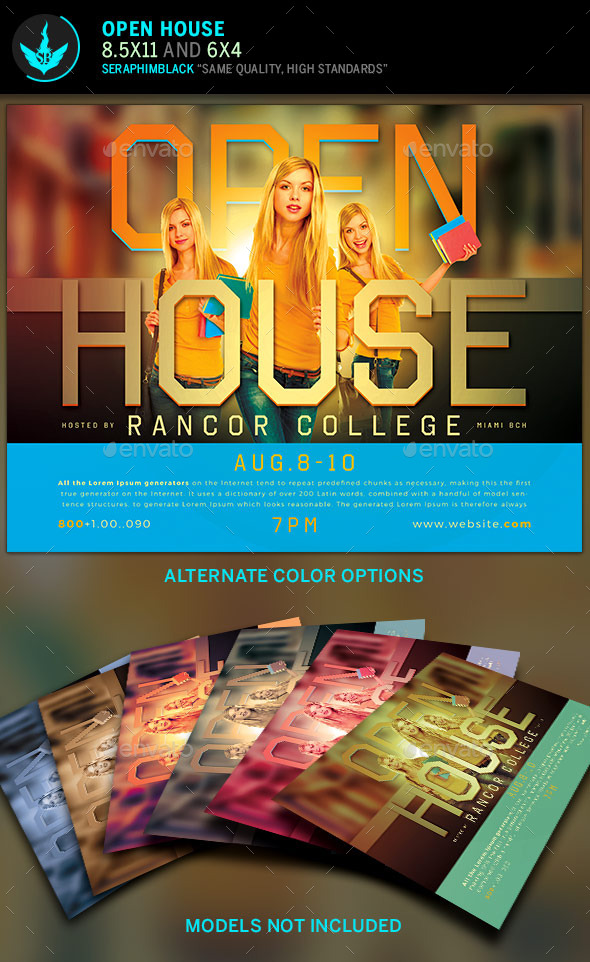 Open House Flyer Template - Events Flyers