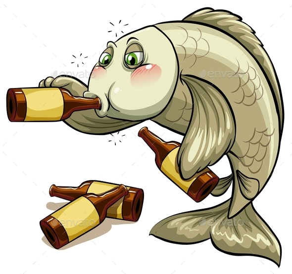 A Drunk Fish - Animals Characters