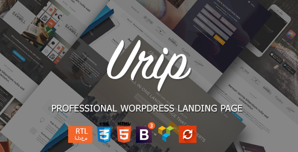 Urip – Professional WordPress Landing Page
