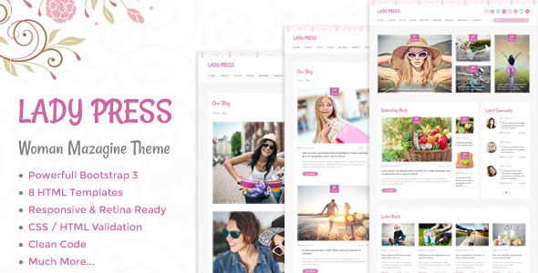 LadyPress - Woman Magazine Blog HTML Template