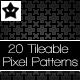 20 tileable pixel patterns 4 - GraphicRiver Item for Sale