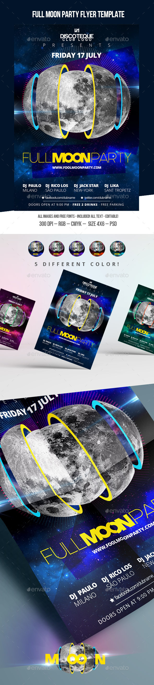 Moon Flyer - Clubs & Parties Events