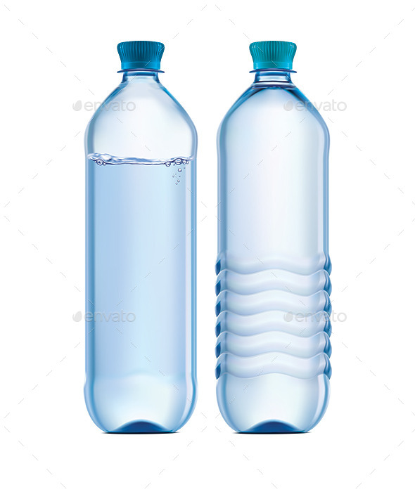 Plastic Bottle of Clean Water - Food Objects