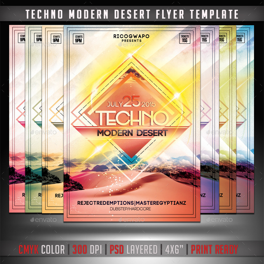 Techno Modern Desert Flyer Template
