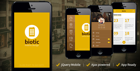 Biotic - Mobile and Tablet Creative Template - theme preview screenshot
