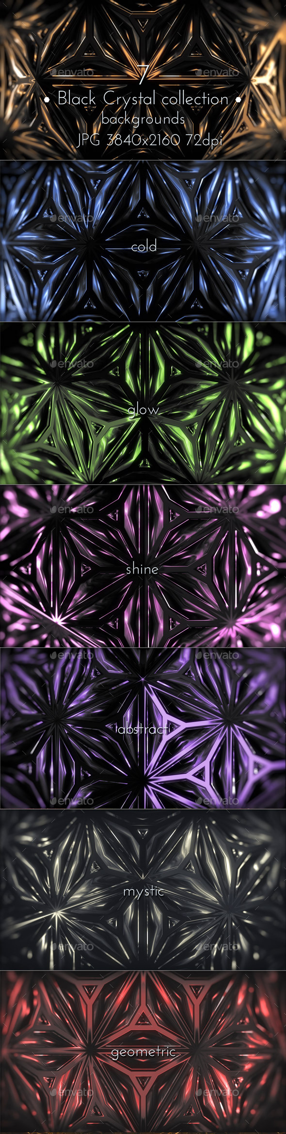 Black Crystal Background - Tech / Futuristic Backgrounds