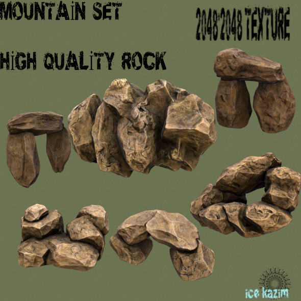 Mountain_Set_1 - 3DOcean Item for Sale