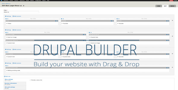 Drupal Drag Drop Builder - CodeCanyon Item for Sale