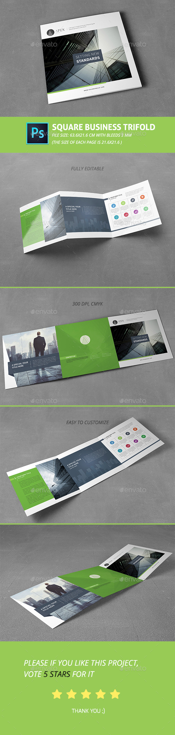 Square Business Trifold - Corporate Brochures