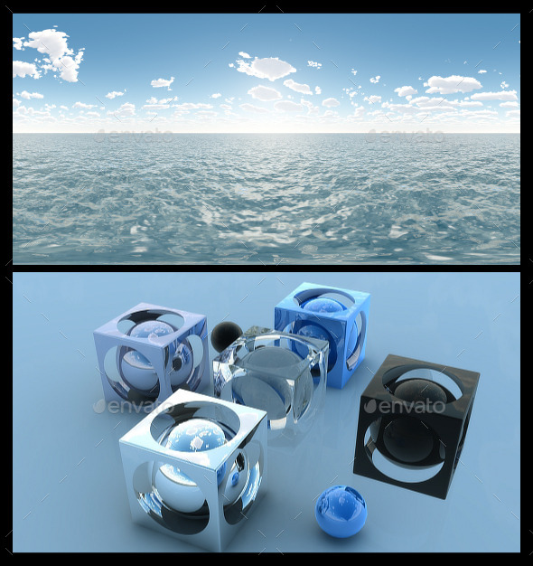 Ocean Blue Clouds 3 - HDRI - 3DOcean Item for Sale