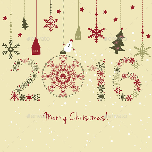 New Year Card - Christmas Seasons/Holidays