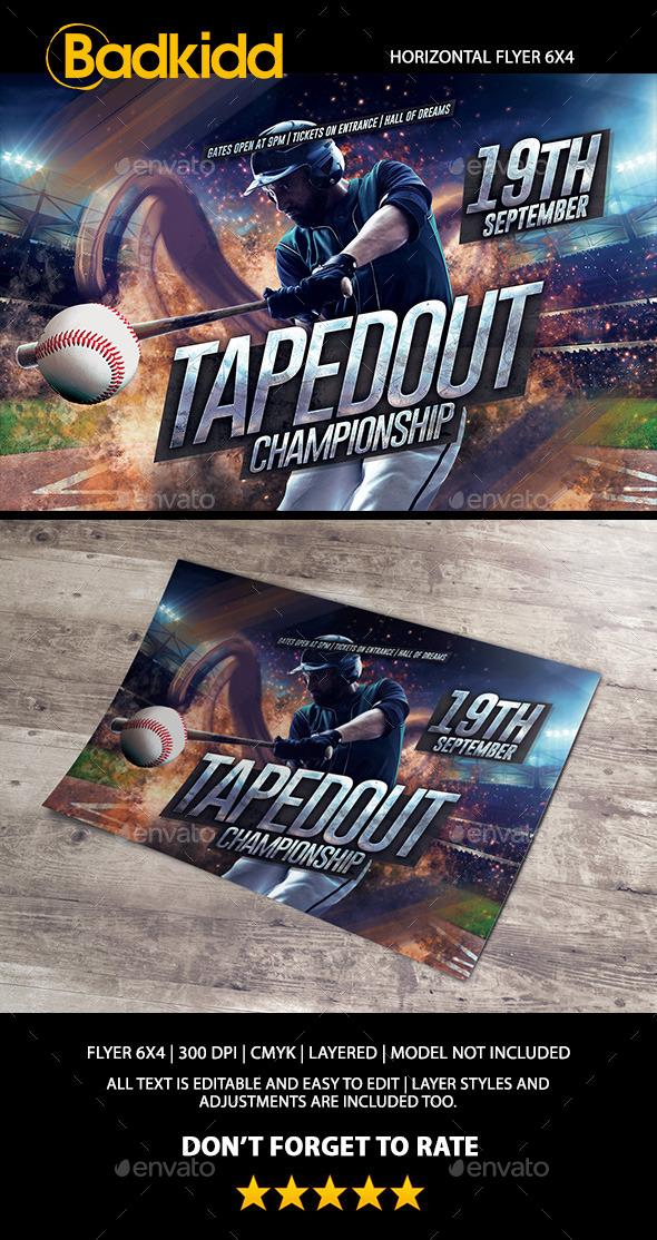 Baseball Horizontal Flyer - Sports Events