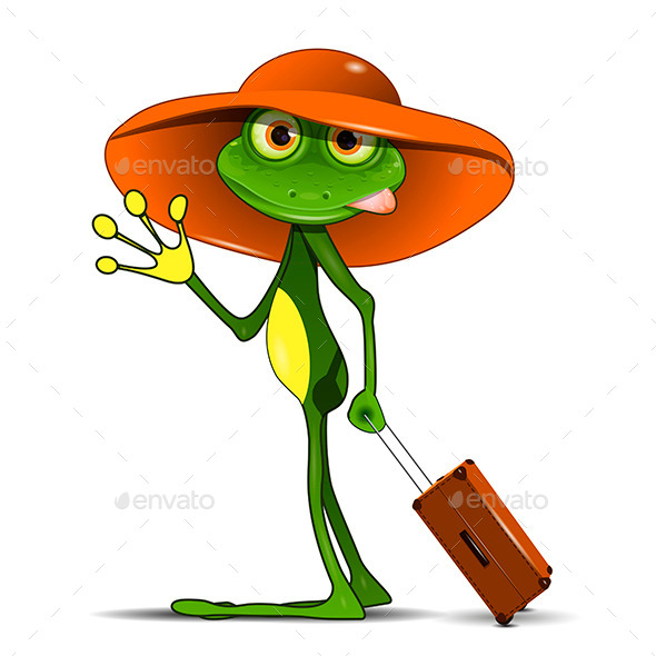 Frog with a Suitcase - Animals Characters