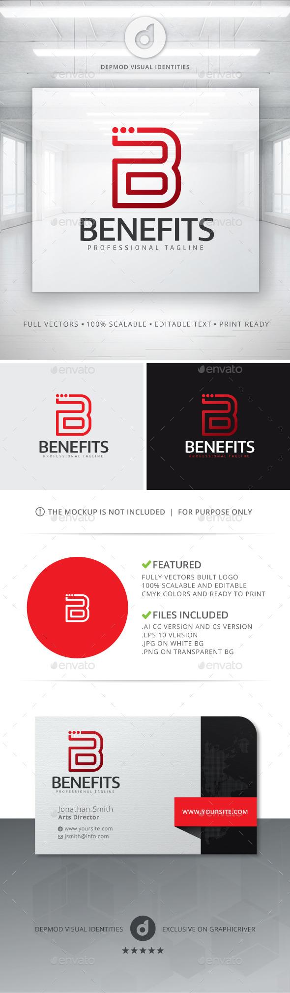 Benefits Logo - Letters Logo Templates
