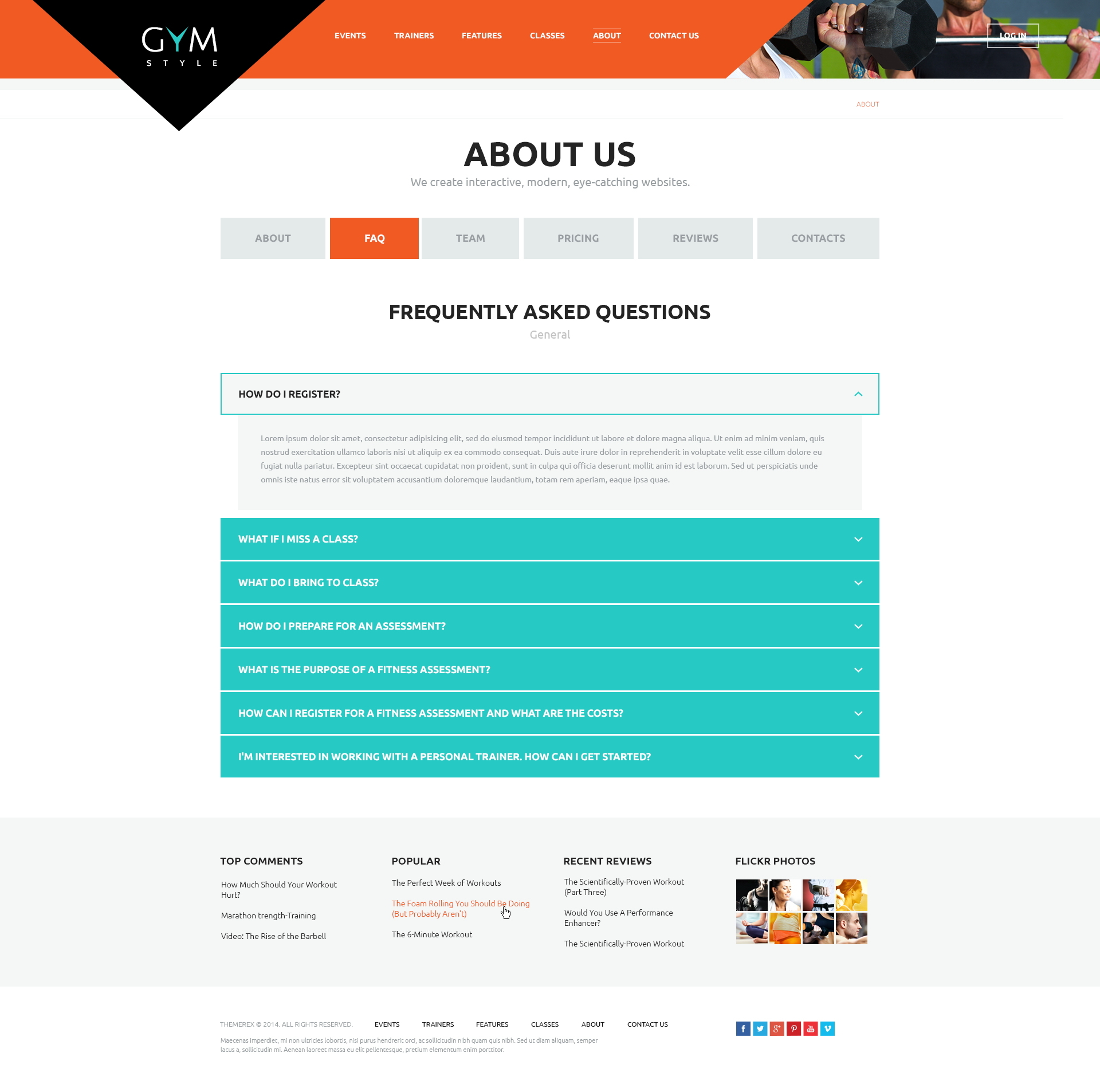 GYM | Sport & Fitness Club WordPress Theme