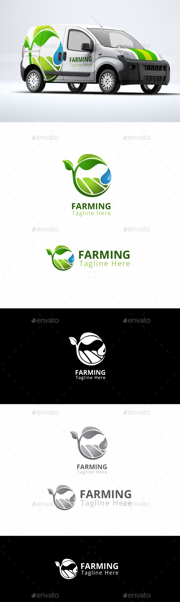 Farming - Agriculture Logo Template - Nature Logo Templates