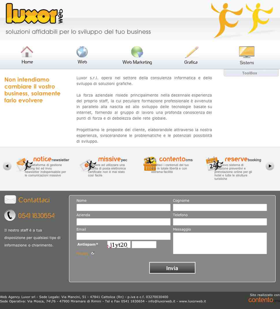 Homepage luxorweb