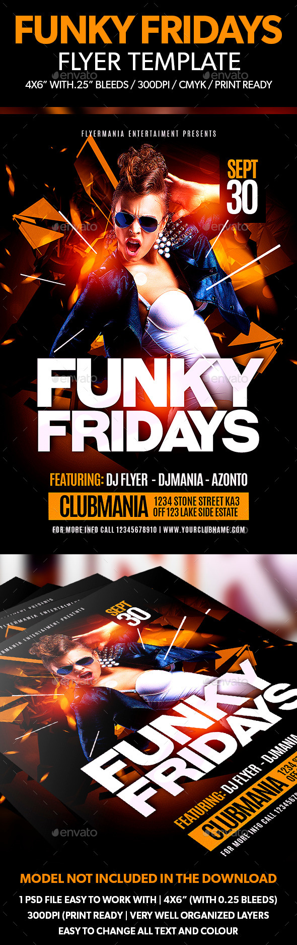 Funky Fridays Flyer Template - Clubs & Parties Events