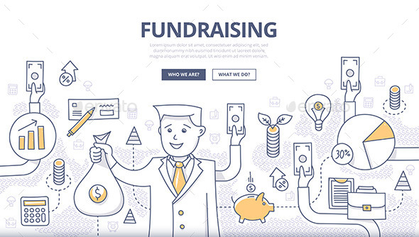 Fundraising Doodle Concept - Concepts Business