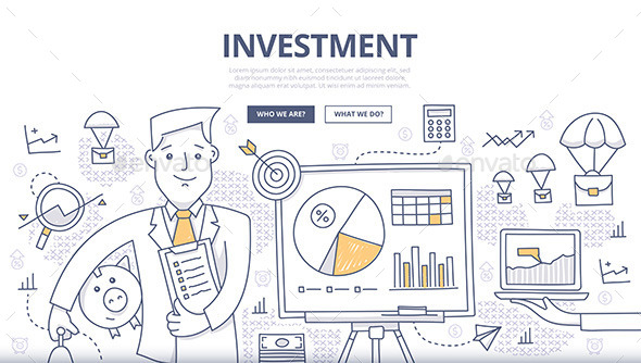 Investment Doodle Concept - Concepts Business